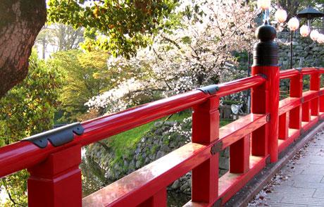 Okazaki Castle's bridge