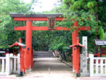 The Torii gate leading to the temple